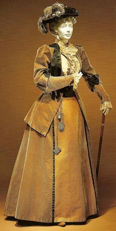1898 walking suit  by Charles Worth