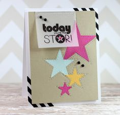 Today YOU'RE the Star created by amy Kolling for the Simon Says Stamp Blog using Lil Inker Designs.  March 2014