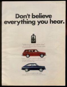 1969 VW Volkswagen Blue Fastback Red Squareback Cars