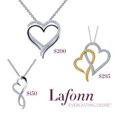 Show some love with Heart Pendants by Lafonn at Silveri Jewellers in Guelph. Heart Pendants, Jewelry Stores, Gift Guide, Custom Design, Jewels, Gemstones, Diamond, Silver, Gold