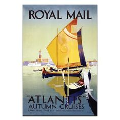 "Artist Lane Royal Mail Vintage Advertisement on Wrapped Canvas Size: 30"" H x 20"" W x 1.5"" D"