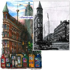 #TBT –The Gooderham Building on Wellington St. in the St. Lawrence Market area of #Toronto. The building was completed in 1892 and is an early example of a prominent flatiron building. The building was built for distiller George Gooderham of Gooderham and Worts (a Canadian company that was once the largest distiller of alcoholic beverages in Canada).  Here is a picture off the building in 1893.