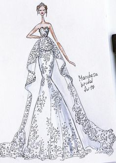 Bridal #marchesa Fall 2017 by @ekateri_lukina  Be Inspirational❥ Mz. Manerz: Being well dressed is a beautiful form of confidence, happiness & politeness