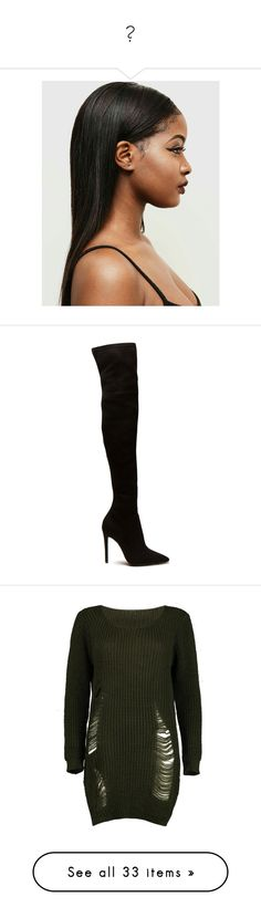 """""""💙"""" by bbysy ❤ liked on Polyvore featuring hair, shoes, boots, heels, over-the-knee boots, over the knee high heel boots, faux suede boots, thigh high boots, thigh boots and high heel boots"""
