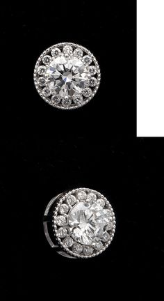 Diamond 164331: 0.80Ct Brilliant Round Cut Halo Pendant Solid 14K White Gold Sliding Charm -> BUY IT NOW ONLY: $63.99 on eBay!