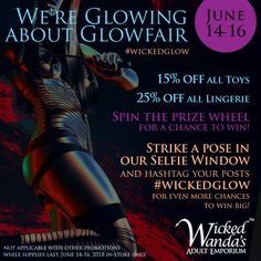 WWae Glowfair Festival promo on Instagram June 2018 Freelance Graphic Design, Graphic Design Projects, Prize Wheel, All Toys, Strike A Pose, Wicked, Glow, June, Instagram