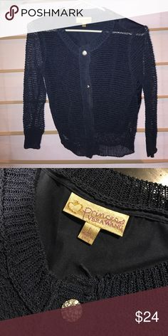 Vera Wang crochet cardigan See-through in front but not back. NWOT. Fits like Medium. Vera Wang Sweaters Cardigans