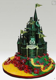 Wizard of Oz Emerald City cake
