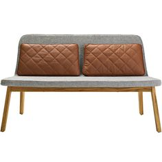 addinterior LEAN 2 Chair Grey With Cognac Cushions | Houseology