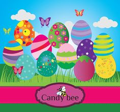 Easter Egg digital clipart SAJ-426 Buy 2 get 1 by CandyBeeDesigns