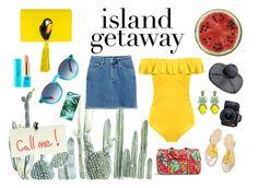 """Island Getaway"" by coldasme on Polyvore featuring moda, Nach Bijoux, Round Towel Co., tarte, Etnia Barcelona, Elizabeth Cole, H&M, Vera Bradley, Rianna Phillips i Eos"