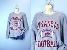 Vintage Arkansas Razorback Sweatshirt Football by SnapVintage, $28.00