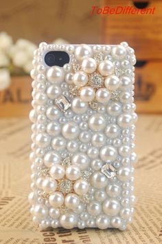 Pearl & Rhinestone Cell Phone Case