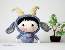Ravelry: Blue Goat Doll Tanoshi series toy. pattern by Tatyana Korobkova