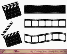 Movie clipart film clapperboard clip art film by PiXXartPictures Movie Clipart, 1 Clipart, Collage Sheet, Collage Art, Kino Film, Kino Movie, Kindergarten Graduation, Hollywood Theme, Project Free