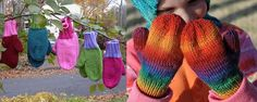 Basic Knitted Children's Mittens [FREE Knitting Pattern]