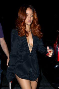 Rihanna | Auburn and Amber Ombre hair