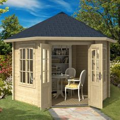 Greenway 3.5m x 3.3m Winterfold Log Cabin - http://www.sheds.co.uk/greenway-3-5m-x-3-3m-winterfold-log-cabin.html