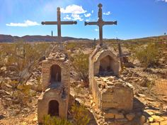 Graves found in the desert just outside of the Terlingua Ghost Town.