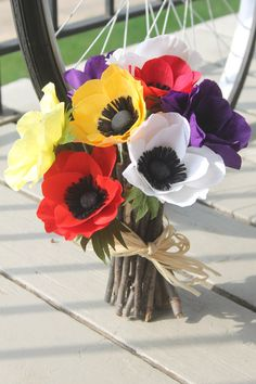 Paper anemonePaper flowers for giftwedding bouquet by adornflowers, $30.00