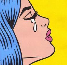 Comic Kunst, Comic Art, Art And Illustration, Pop Art Girl Crying, Cartoon Drawings, Art Drawings, Hipster Drawings, Pencil Drawings, Bd Pop Art
