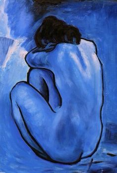 """Blue Nude"" (1902) by Pablo Picasso"