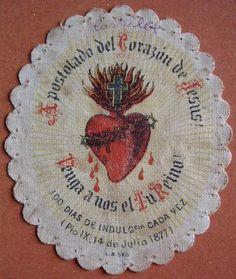 sacred heart of jesus prayer card scg007 chest