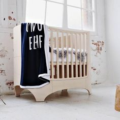 Anarkid sweet knitted blanket in navy cotton knit , GOTS certified. Perfect present for the little one to sit in the cot Pre order now at Little Styles - arrival date mid March Leander Cot, Knitted Blankets, Baby Blankets, Baby Wraps, Cribs, Nursery, Bed, Danish, Modern