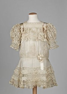 child's dress c. 1910 Looks like a dress that a child would be seen in and not heard.