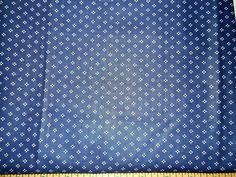 """Navy Blue White Spots Fabric       44""""  By The Yard"""