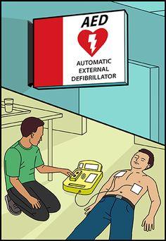 Saber cómo usar un desfibrilador externo semiautomático o #AED podría salvarle la vida a alguien  #corazón #salud