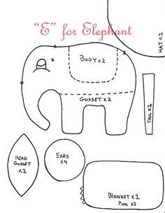 Elephant Pattern - one more piece under the belly! Perfect!