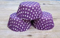 24 Purple Polka Dot Cupcake Liners Cupcake by LuxePartySupply