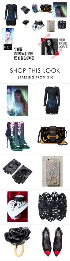 """""""The escaped walrock"""" by ellie-molyneux ❤ liked on Polyvore featuring Matthew Williamson, Prada, Anthropologie, Nach Bijoux, Love Moschino, wattpad and warlock"""