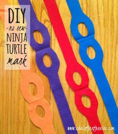 Creating a Ninja Turtle Costume is EASY with this simple no-sew DIY ninja turtle mask pattern. Post includes FREE printable pattern.