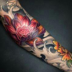 Amazing-Japanese-Tattoo-Design-with-Lotus-Tattoo-Design-in-Hand-Tattoo-Ideas. - Amazing-Japanese-Tattoo-Design-with-Lotus-Tattoo-Design-in-Hand-Tattoo-Ideas. Japanese Flower Tattoo, Lotus Flower Tattoo Design, Japanese Tattoo Designs, Japanese Sleeve Tattoos, Flower Tattoos, Japanese Lotus, Lotus Design, Japanese Water Tattoo, Japan Tattoo Design