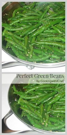 Cooking with K - Southern Kitchen Happenings: Perfect Green Beans