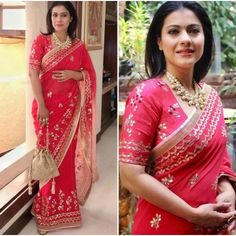 Bollywood Designer Saree with Unstitched Blouse Piece. This Product is made by well known skilled Textile Designer\ Fashion Designer from India. Peach Saree, Saree Look, Red Lehenga, Pink Saree, Lehenga Choli, Bollywood Designer Sarees, Bollywood Saree, Bollywood Fashion, Bollywood Actress
