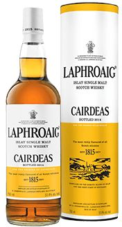 (A-) Laphroaig Cairdeas (2014 - Amontillado finish): The traditionally peaty and smoky nose includes notes of honey, heather, spices and a touch of oak. Joining the smoke and peat on the palate is citrus and some spicier spices (think curry). Peppery, with maybe a spot of chocolate as well. The lingering finish is dry and ashy. Complex, well-rounded and affordable(!) if you can find it.