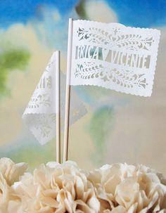 Centerpiece Papel Picado Flags