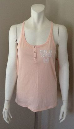 VICTORIA'S SECRET PINK RACER BACK TANK TOP NEW WITH TAGS SIZE SMALL #VictoriasSecret #GraphicTANK
