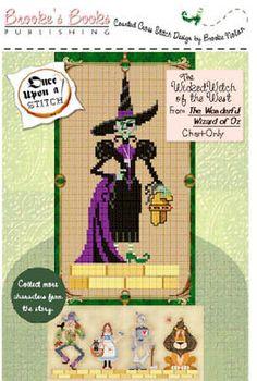 Wonderful Wizard - Wicked Witch - Cross Stitch Pattern by Brooke's Books Publishing