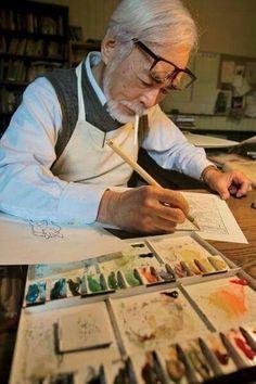 Hayao Miyazaki - Studio Ghibli - Spirited Away Hayao Miyazaki, Studio Ghibli Films, Art Studio Ghibli, Studio Ghibli Quotes, Film Animation Japonais, Film D'animation, Castle In The Sky, 3d Studio, Howls Moving Castle