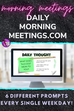 Are you a teacher who needs to settle your students at the start of the day or a lesson? a consistent and fun morning routine in your classroom? a way to encourage your students to have meaningful conversations or writing prompts? an effective morning check in to connect with your students and attend to their social emotional needs? Then these daily morning meetings are all you need! Every weekday, a new prompt will appear for you to use in your classroom. There are 6 different themes each day! High School Classroom, Classroom Ideas, Teaching Resources, Teaching Ideas, Daily Fun Facts, Morning Announcements, Morning Meetings, Secondary Teacher, Meaningful Conversations