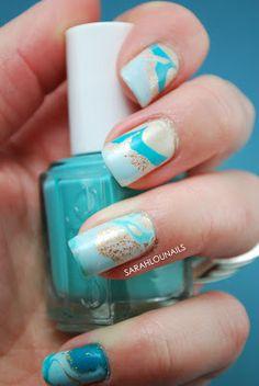 Sarah Lou Nails: Water Marble Nails!
