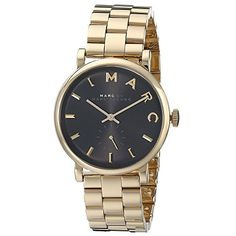 Marc by Marc Jacobs Women's Baker Watch, Gold/Black, One Size Marc by Marc Jacobs http://www.amazon.com/dp/B00KCCW3F6/ref=cm_sw_r_pi_dp_RTsKub0FBA7QK