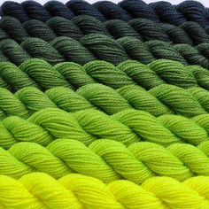 Fluorescent Yellow to Cool Gray Color Bridge Yarn Set. $47.10, via Etsy.