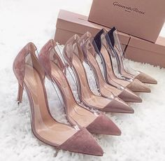 Nude Pumps by Gianvito Rossi - Shop Now