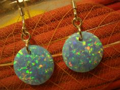 925 Silver Earring with Synthetic Opal by Uniqueopalshop on Etsy