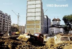 Biserica Olari; deja translatata in spatele blocurilor in constructie Multi Story Building, Gallery, Life, Image, Bucharest, Romania